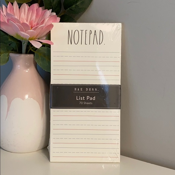 "Rae Dunn ""Notepad"" List Pad"